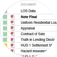 Verify and validate documents and data in mortgage quality analytics tool